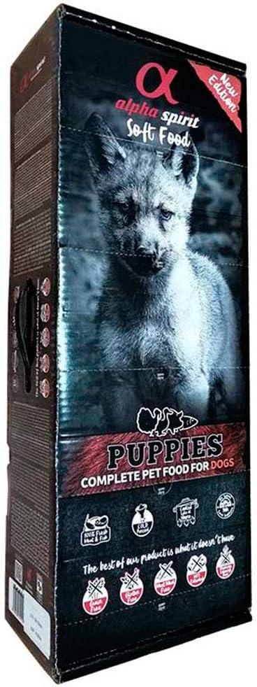 ALPHA Spirit Canine Puppy Pescado SEMIHUMEDO Caja 9KG, Negro, Mediano, 9000