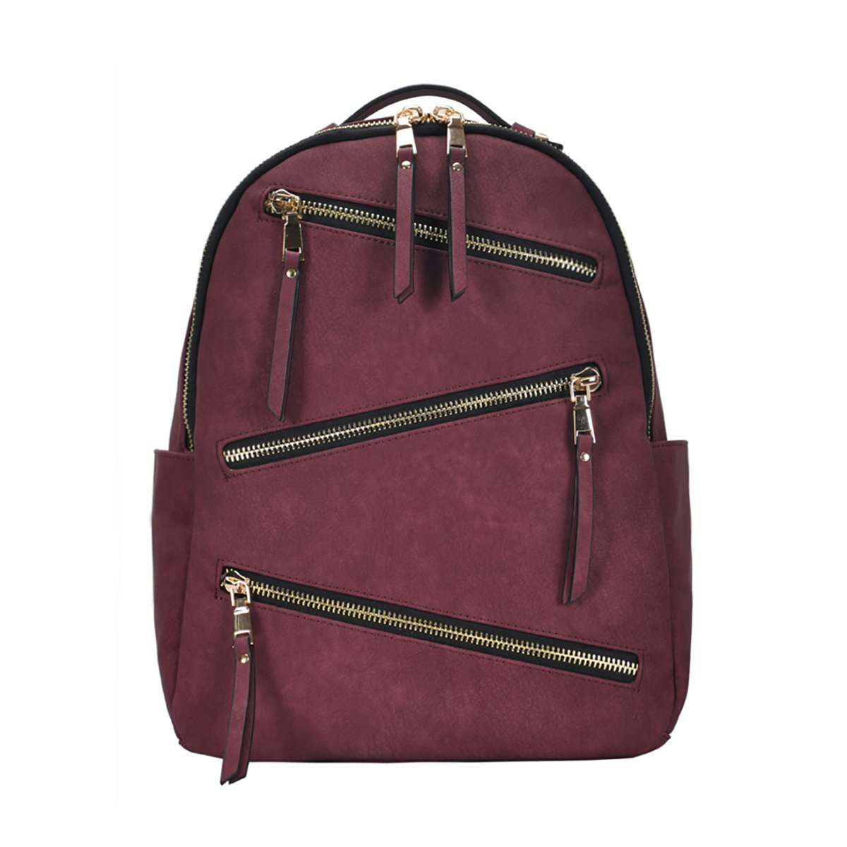 Grey Dark Blue Tan BGS-16327 Wine MMS Design Studio Dakota Backpack: Black