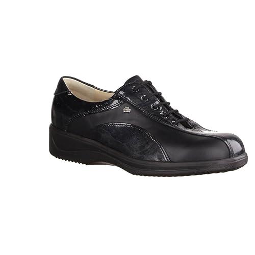 Finn Comfort - Zapatos de cordones de terciopelo para mujer negro negro 40.5 KvEKSBFkP4