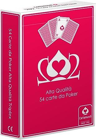 Cartamundi Poker Juego 54 Cartas Poker, Juego de Cartas, Juegos de Mesa, Estuche Rojo: Amazon.es: Juguetes y juegos