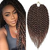 Mirra's Mirror Havana Mambo Twist Crochet Ombre Braiding HairCrochet Hair Senegalese Crochet Hair 6Packs 12inch T1B/30 Color 12Roots/Pack