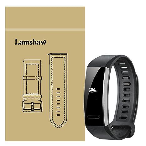 Ceston Silicone Classique Bracelet De Remplacement pour Huawei Band 2 Pro (Noir)