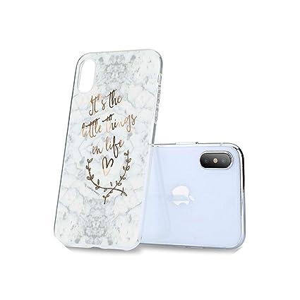 Amazon.com: Karmas-bone Funda de mármol para Samsung Galaxy ...