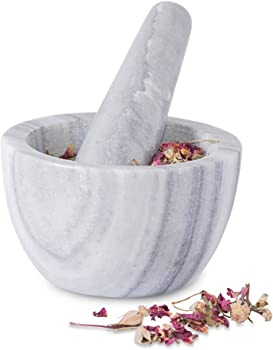 Wirezoll Single Quality Marble Mortar and Pestle