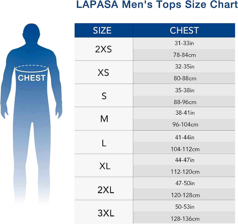 LAPASA Uomo Maglia Termica Invernale Ad Alta Densit/à T-Shirt Maniche Lunghe Ultra Termico Heavyweight M26