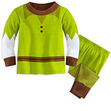 3c65e5739 Amazon.com: Disney Peter Pan PJ PALS Pajamas for Baby Green: Clothing