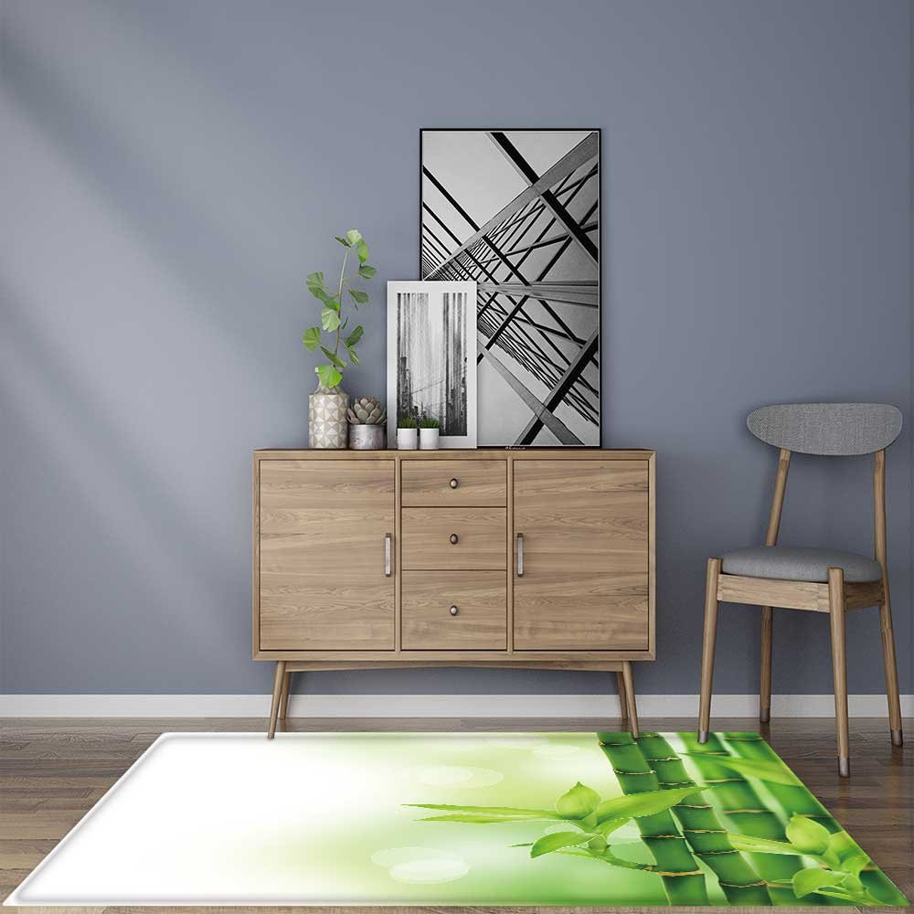 for Home or Travel Beautiful Bamboo Border Easier to Dry for Bathroom 22''x60''