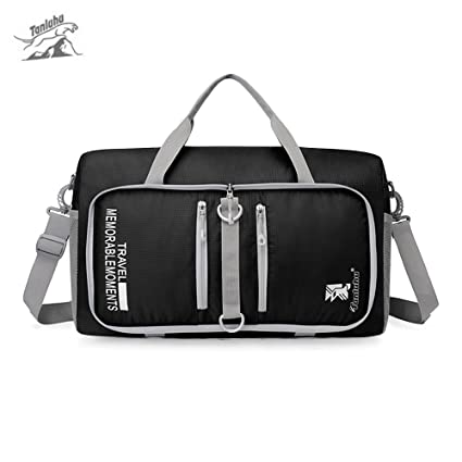 Image Unavailable. Image not available for. Color  SZYT Folding travel bag  men and women handbags gym bag large-capacity short-distance cdd9fdb1db24c