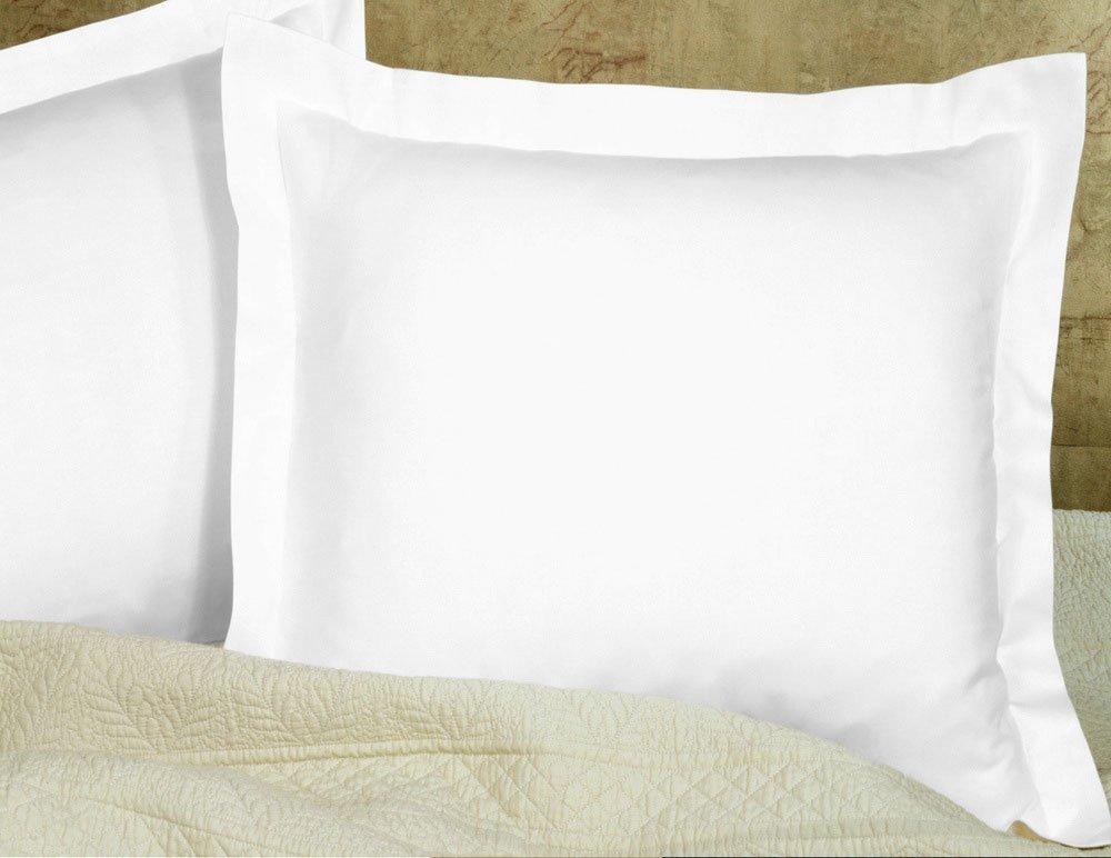shopping-cart Square Pillow Shams 600-Thread-Count 100% Cotton Euro 26''x26''Pillow Sham (white solid)
