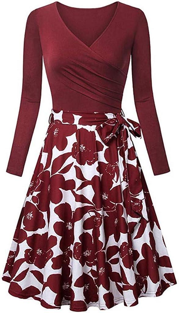 Sanyyanlsy Womens Cross V Neck Dresses Cap Sleeve Elegant Flared A Line Dress