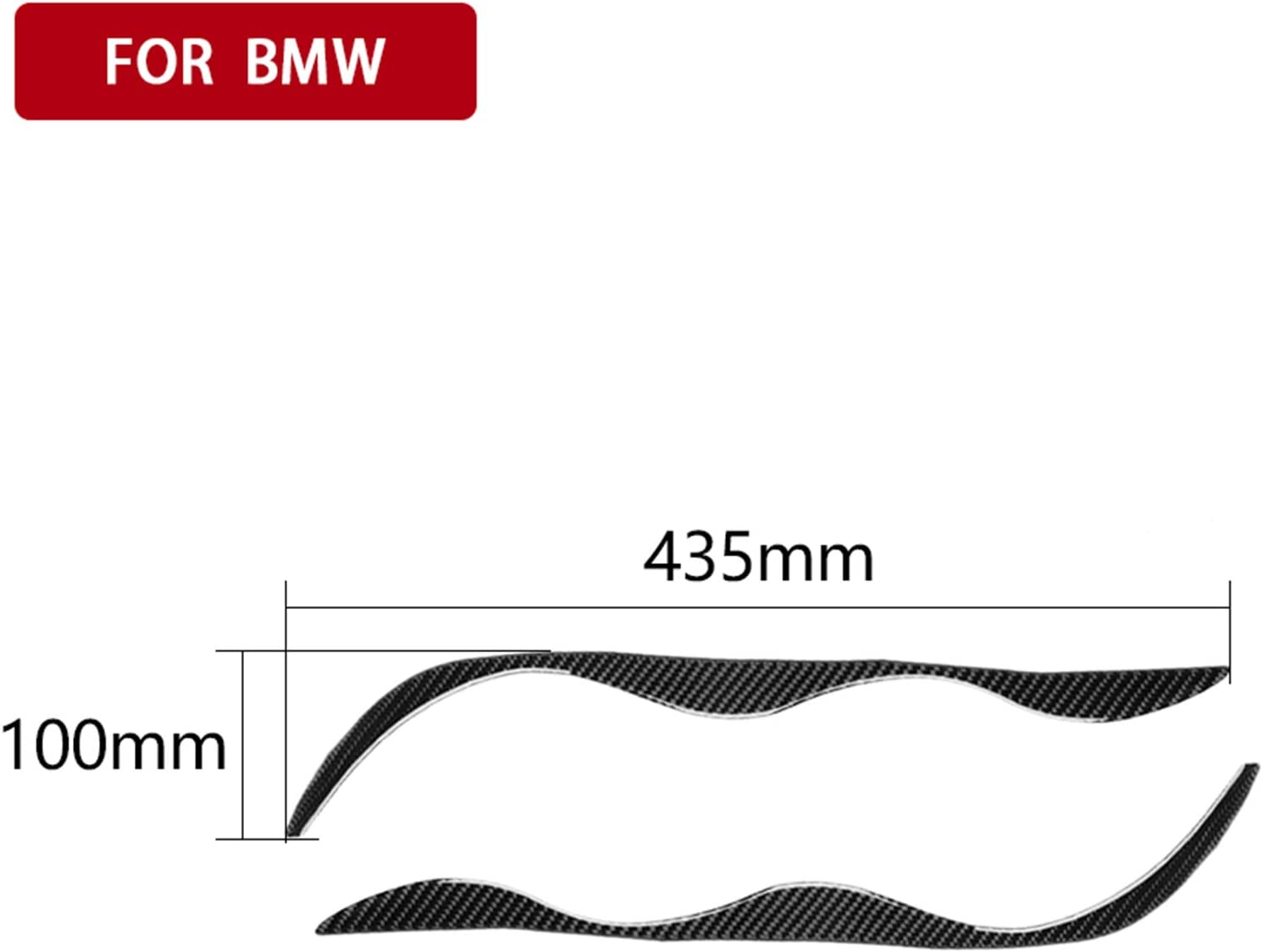 Carbon Fiber Headlight Eyebrow Eyelid Panel Frame Decal Cover Trim for BMW 3 Series 4th E46 320i 325i 330i 335i 340i M3 1998-2006