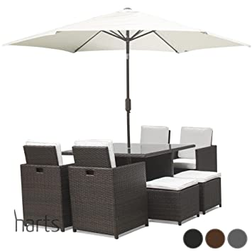 Harts Premium Rattan Dining Set Cube 8 Seats Garden Patio