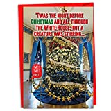 12 'Trump Twas the Night' Boxed Christmas Cards with Envelopes (4.75 x 6.625 Inch), Presidential Christmas Cards, Funny President Trump Holiday Notes, Donald Trump Cards, Political Humor C4238XSG-B12