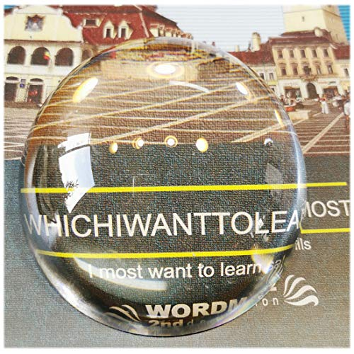 Crystal Magnifying Glass Dome - 3.15'' Crystal Magnifier Dome, Fuctional Paperweight/Photography/Decoration, Reading Aid for Blueprints, Maps, Small Fine Print Etc (80mm)