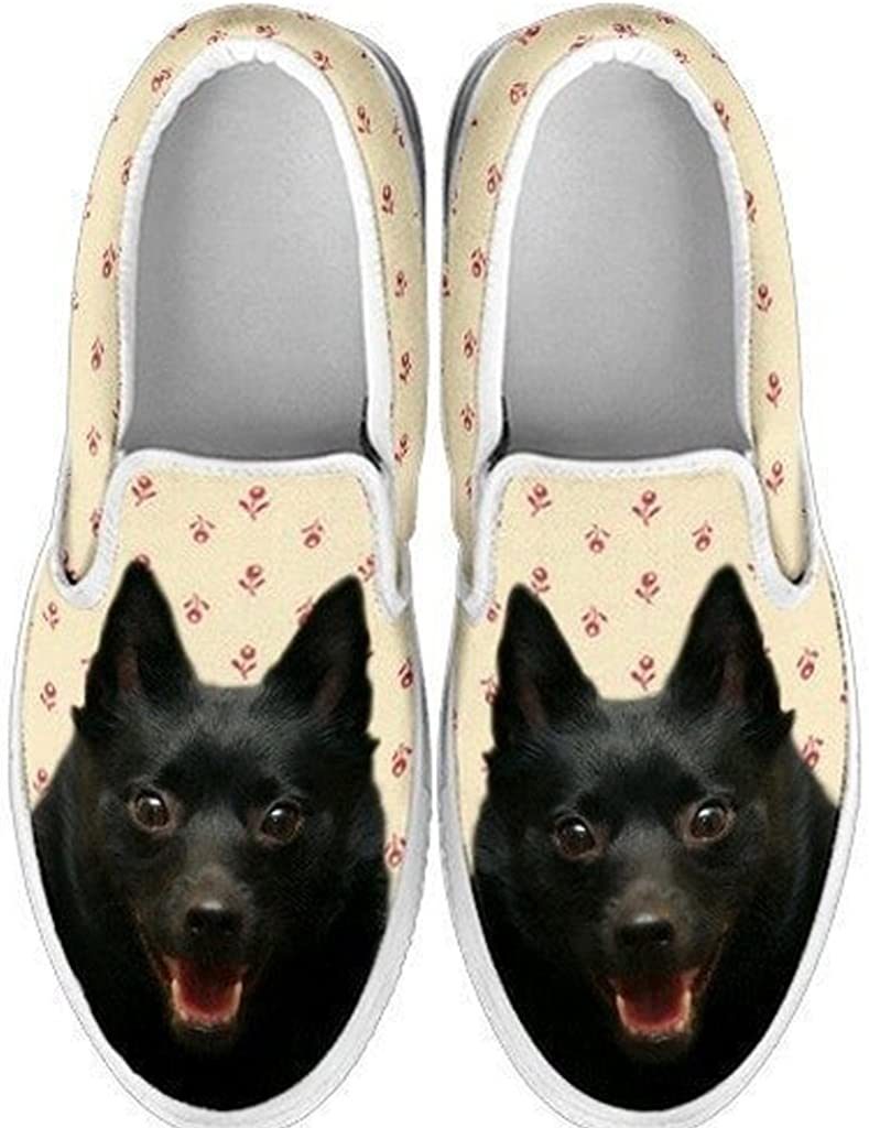 petkanvas Cute Cocker Spaniel Print Slip Ons Shoes for Kids