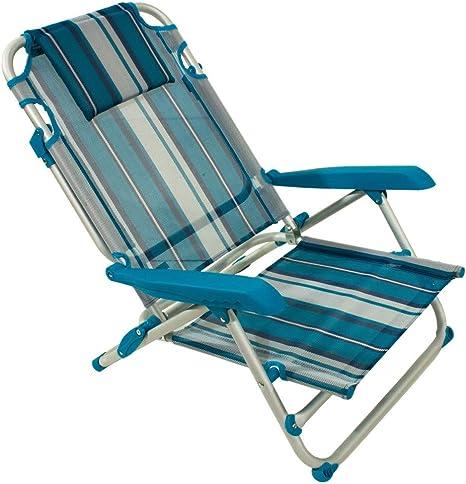 Joy Summer Spiaggina Alluminio Sedia Mare Spiaggia con 4 Posizioni