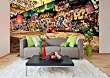 Removable Wallpaper Mural Peel & Stick Graffiti (60H X 90W)