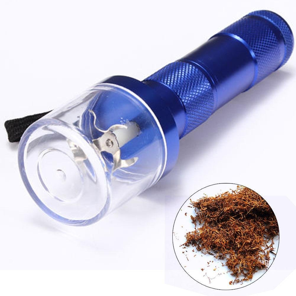 Electric Allloy Metal Grinder Crusher Crank Tobacco Smoke Spice Herb Muller Blue