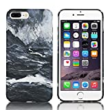 """iPhone 6S Glitter Case,IKASEFU Creative Ocean World Print Flowing Glitter Sparkle Shiny Sand Transparent Liquid Case Cover for iPhone 6/6S 4.7""""-Pattern#6"""