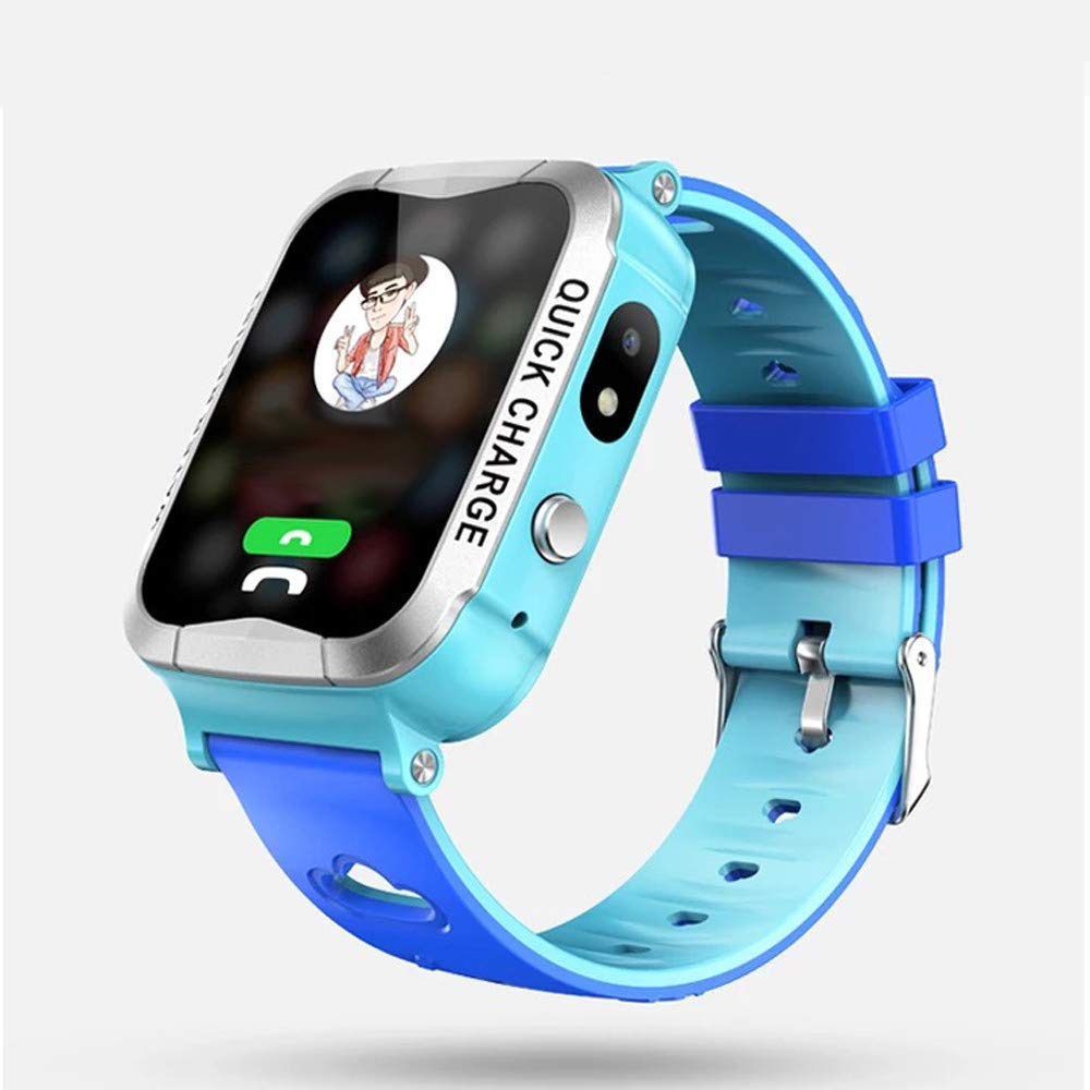 Buybuybuy Kids Smart Watch Phone V13 GPS Tracker Phone Watch with SOS Anti-Lost Child Digital Game Sport Watch Parent Control App by iOS Android for Girls Boys Birthday Gift (Blue)