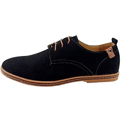 Amazon.com | Men Shoes Casual Suede Leather Shoes Mens Loafers Black Oxford Shoes for Men Zapatos Hombre Big Size 38-48 | Oxfords