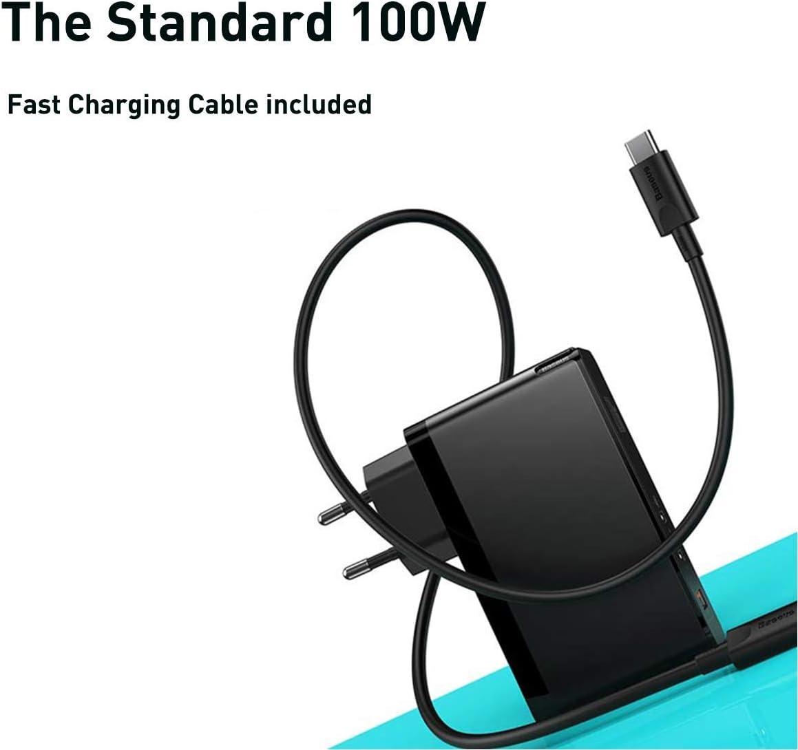 iPad Pro ordinateurs portables USB C iPhone SE//11//11Pro Max//XS Max Baseus Chargeur USB C 120W avec bloc dalimentation GaN Tech Power Delivery USB-C Compatible avec MacBook Pro//Air