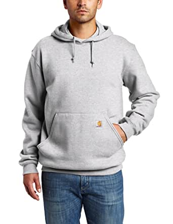 Carhartt Men's Heavyweight Sweatshirt Hooded Pullover Original Fit,Heather Grey  (Closeout),Small
