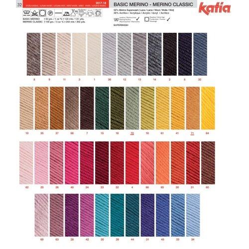 Katia Merino Classic/ / 33 240/m lana /Color: Azul Oxford /100/g//aprox