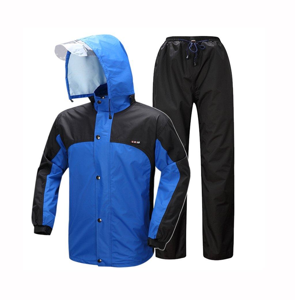 Regenmantel Regen Hosen Anzug männlich Erwachsene Split Sommer Takeaway dünne Wasserdichte Körper Regenmantel (Farbe   B, größe   XL)