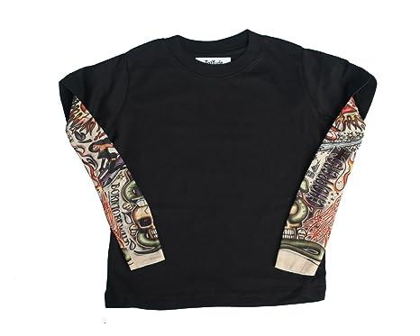 Amazon.com: TotTude Baby Boys\' Chopper Tattoo Sleeve T Shirt: Clothing