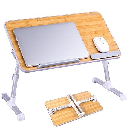 Mesa Ajustable para ordenador portátil, superjare portátil escritorio de pie, Soporte de ordenador portátil
