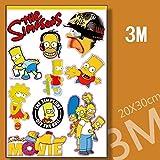 The Simpsons Cartoon Skateboard Sticker Vinyl Sticker Laptop Luggage Car Bumper Cellphone Decals