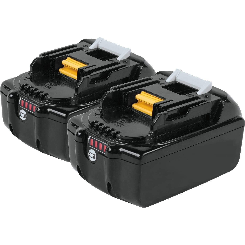 Boetpcr BL1850B 18V5.0 Ah batería de repuesto de litio litio litio para Makita BL1850B BL1840B BL1830B BL1820 BL1815 BL1825 BL1835 BL1845 LXT-400 con indicador b021a2
