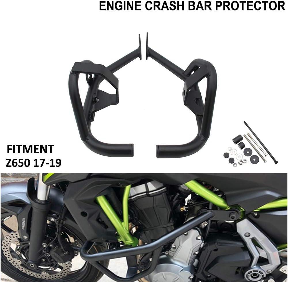Für Kawasaki Z650 Motorrad Sturzbügel Motorschutz Rahmenschieber Stoßstangenschutz Highway Stangen Für 2017 2018 2019 Schwarz Auto