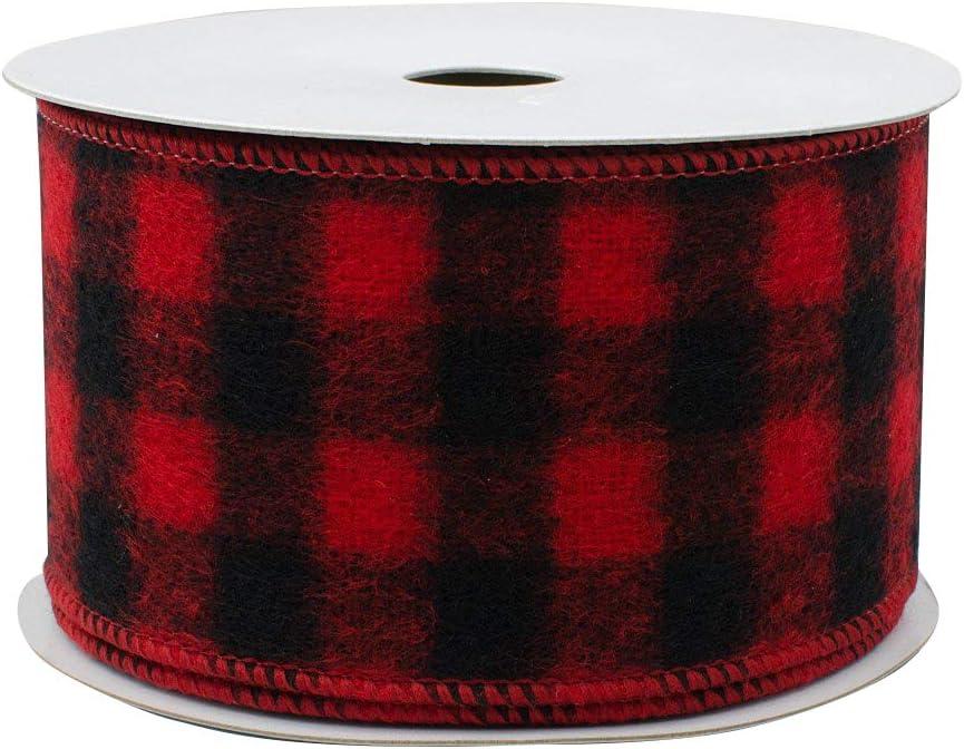 Buffalo Plaid Wired Ribbon Decoration - 2 1/2