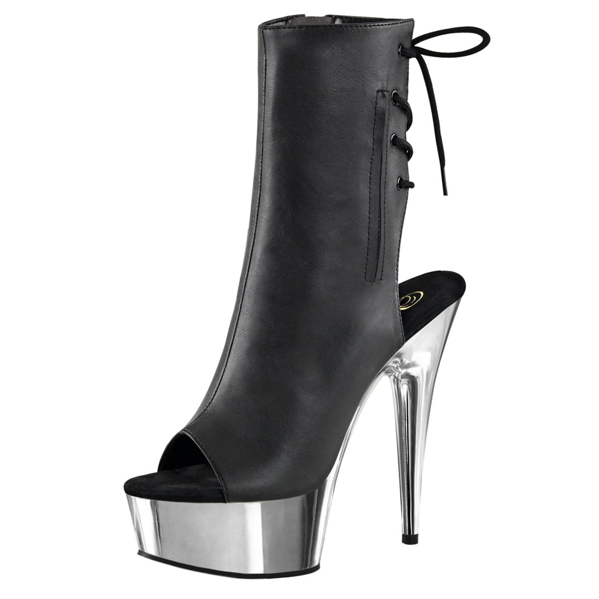 191152088d1 Amazon.com | 6 Inch High Heel Platform Sexy Boots Lace Up Back Peep ...