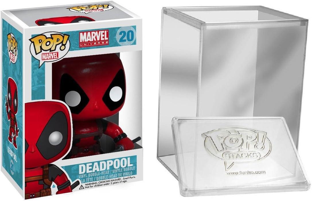 Funko Pop: Marvel Comics - Deadpool Vinyl Action Figure + FUNKO PROTECTIVE CASE: Amazon.es: Juguetes y juegos