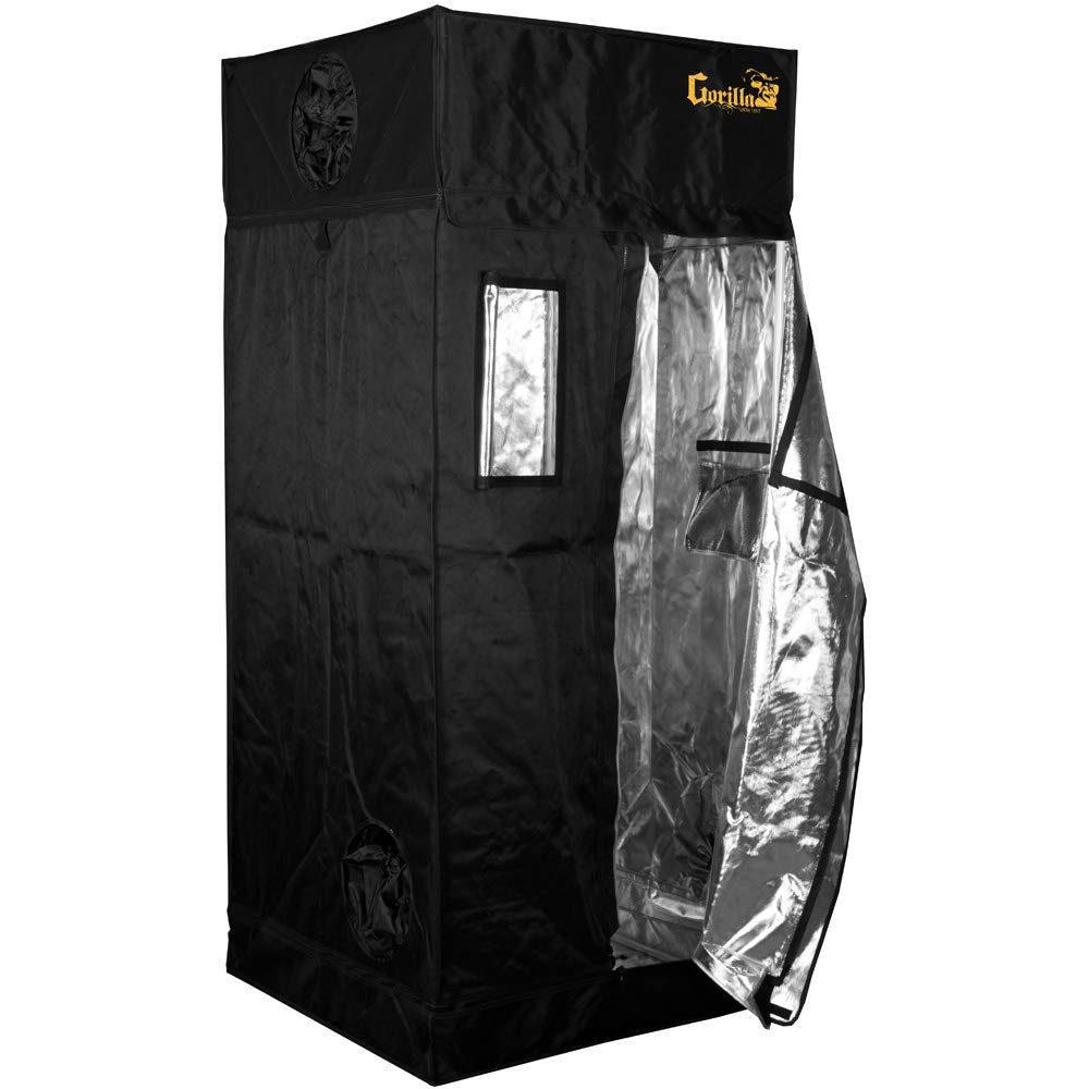 Gorilla Grow Tent GGT33 Grow Tent, 3 by 3 by 6-Feet/11-Inch, Black