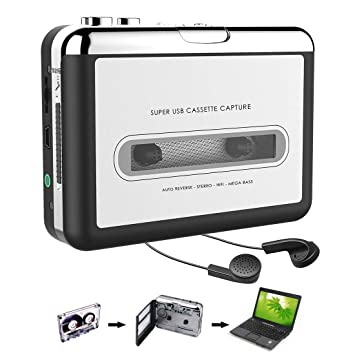 Convertidor USB de Cinta Audio Cassette a MP3 portátil Walkman con audífonos: Amazon.es: Electrónica