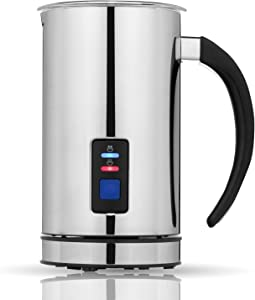 Chef's Star B00GTZYU88 Frother And Steamer-Automatic Foam Maker & Creamer For Hot Or Cold Milk-Electric Warmer & Heater, Best For Coffee, Cappuccino, Latte, Espress, Stainless Steel
