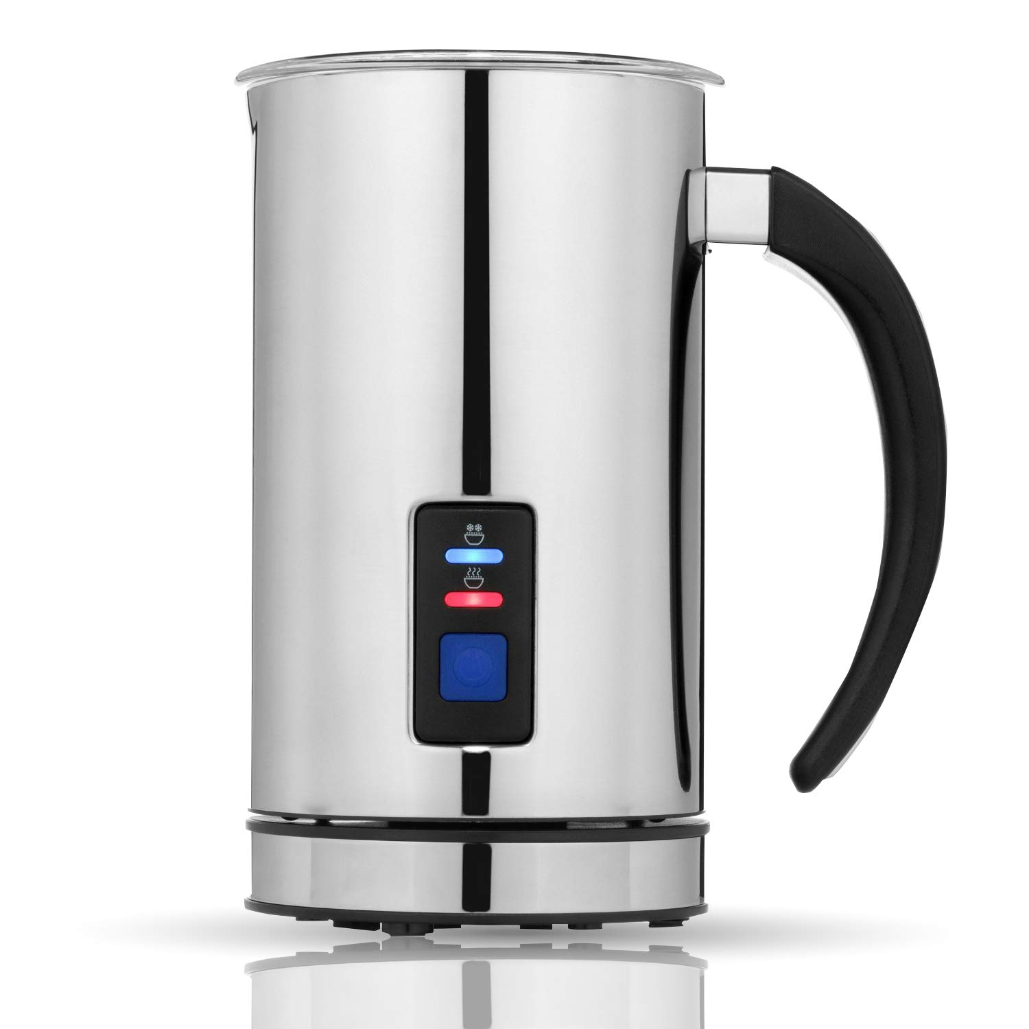 Cappuccino Flexzion Electric Milk Frother and Heater Black Espresso Automatic Hot /& Cold Milk Foamer Steamer Throther Maker Warmer Machine with Non-Stick Coating for Coffee Creamer Latte