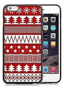 Popular Design iPhone 6 Plus Case,Christmas Seamless Texture Black iPhone 6 Plus 5.5 TPU Case 1
