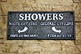 Cast Iron Colored Officers Showers Black Americana Of The Army Plaque