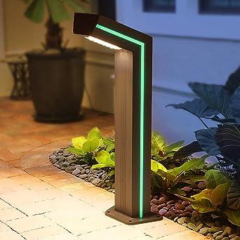 Aaedrag IP54 impermeable al aire libre Pilar Villa Jardín de aluminio Baliza Luz 10W LED del