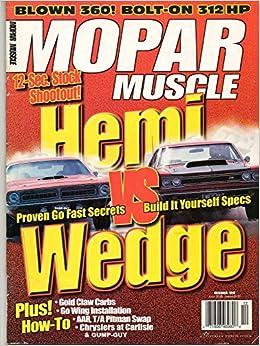 Mopar Muscle December 1998 Magazine 12-SEC  STOCK SHOOTOUT