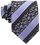 Neckties by Scott Allan, Black and Slate Blue Floral Neckties