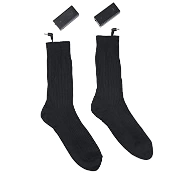 FOONEE Calcetines Térmicos 3V Calcetines Térmicos a Batería Medias Recargables para Esquiar Pies Fríos Mujeres/Hombres-Negro: Amazon.es: Hogar