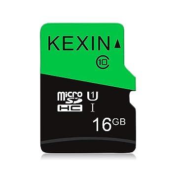 KEXIN TF Tarjeta de Memoria Micro SD de 16 GB MicroSDHS de hasta 70 MB/s, Tarjeta Externa UHS-1 Clase 10 para Cámara Deportiva, IPC Cámara, ...