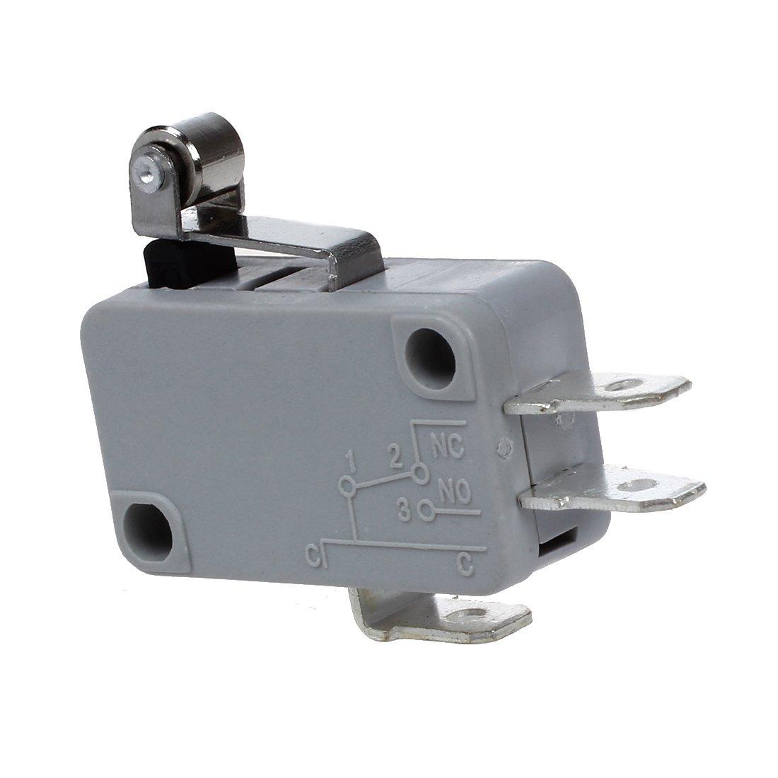 R SODIAL 2 x Micro Interruptor Rodillo Palanca Corta de Metal