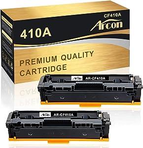 Arcon Compatible Toner Cartridge Replacement for M477fnw HP 410A 410X CF410A CF410X for HP Color Laserjet Pro MFP M477fnw M477fdw M477fdn M452dn M452nw M452dw M377dw 410A Black Toner 2-Pack